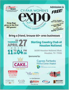Cy-Fair Women's Expo - April 27 - 11:00am to 4:00pm